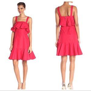 { Jill Stuart } Ruffle Tiered Strap Dress in Poppy